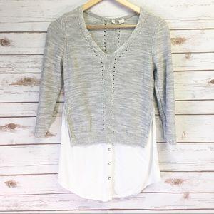 Anthropologie Moth Layered Sweater